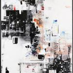 "Urban Topographies 5 48""x78""x1.5"""